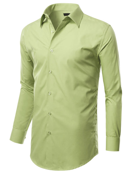 TC632LIME Lime Slim Fit Dress Shirt w/ Reversible Cuff (Big & Tall Available)- MONDAYSUIT