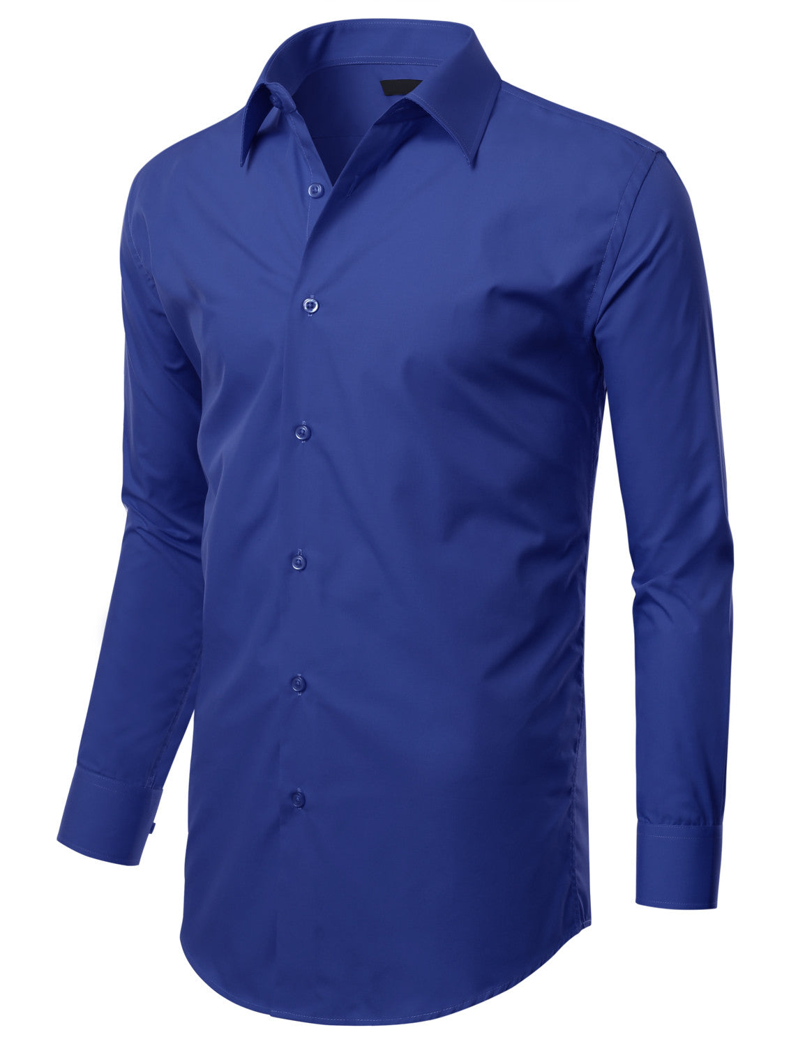 b49f62e231442 TC635ROYALBLUE Royal Blue Slim Fit Dress Shirt w  Reversible Cuff (Big    Tall Available