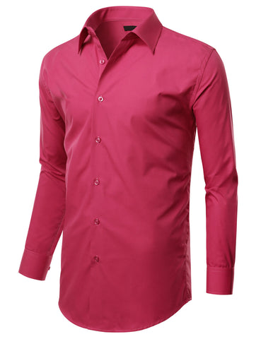 Fuchsia Slim Fit Dress Shirt w/ Reversible Cuff (Big & Tall Available)