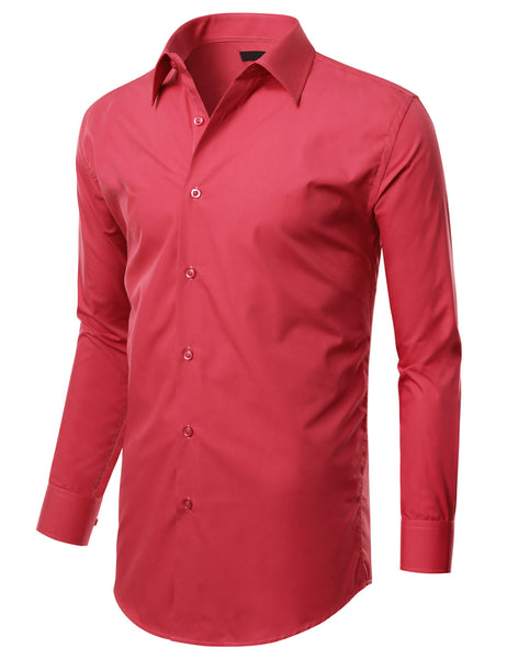 TC638CORAL Coral Slim Fit Dress Shirt w/ Reversible Cuff (Big & Tall Available)- MONDAYSUIT