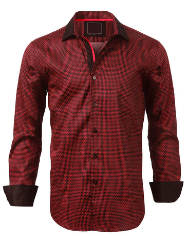Casual Slim Fit Classic Pattern Button Down Shirt