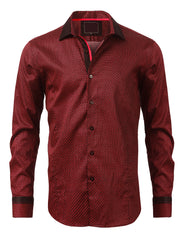 Casual Slim Fit Classic Pattern Button Down Shirt - MONDAYSUIT