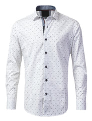 Casual Slim Fit Polka Dot Button Down Shirt - MONDAYSUIT