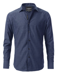 Casual Slim Fit Duotone Pattern Button Down Shirt - MONDAYSUIT