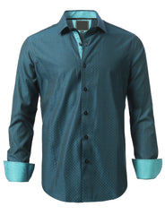 Casual Slim Fit Patterned Button Down Shirt - MONDAYSUIT