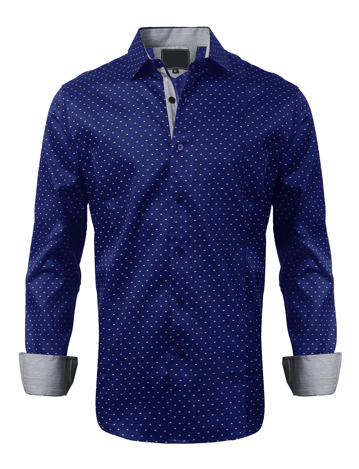 Casual Slim Fit Simple Pattern Button Down Shirt - MONDAYSUIT