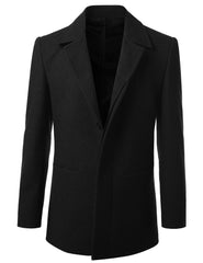 Wool Blend Mid-Length Top Coat- MONDAYSUIT