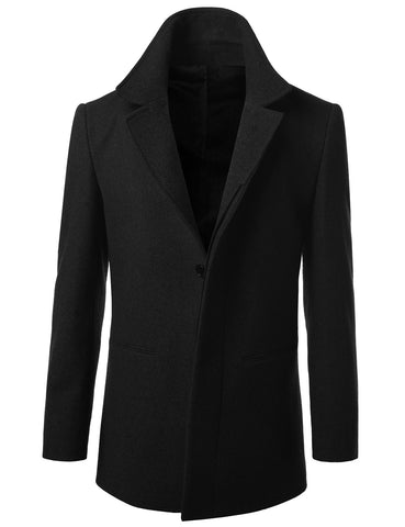 Wool Blend Mid-Length Top Coat
