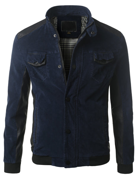 BLUE Slim Fit Jacket with Detachable Hood- MONDAYSUIT