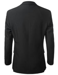 Solid Black Modern Fit 2 Piece Suit- MONDAYSUIT