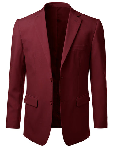 Solid Burgundy Modern Fit 2 Piece Suit