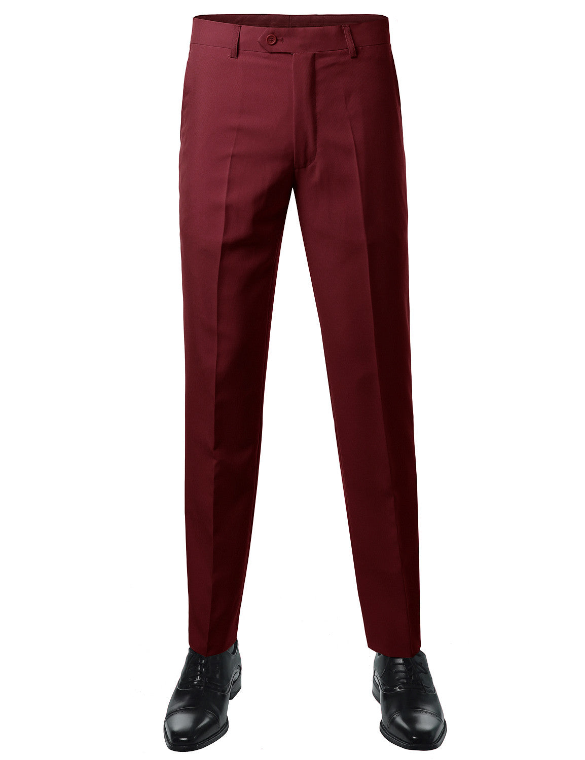 Solid BURGUNDY Modern Fit 2 Piece Suit- MONDAYSUIT