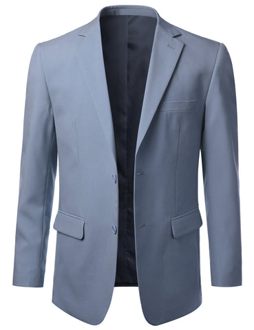 Solid Frenchblue Modern Fit 2 Piece Suit