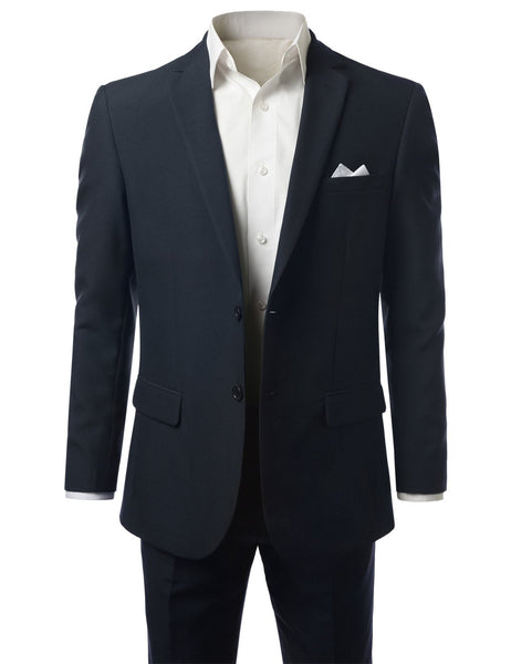 Solid NAVY Modern Fit 2 Piece Suit- MONDAYSUIT