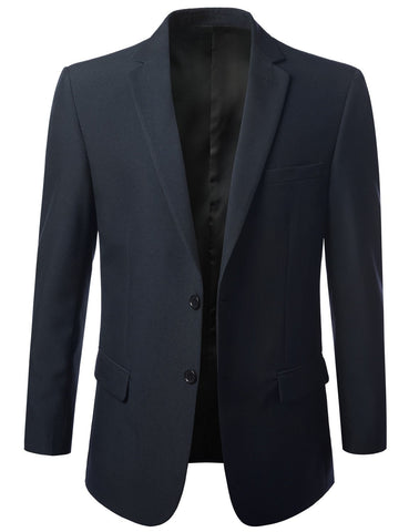 Solid Navy Modern Fit 2 Piece Suit