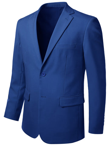 Solid Royalblue Modern Fit 2 Piece Suit