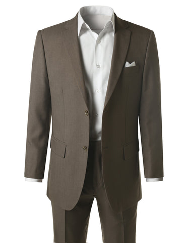 Khaki Modern Fit 2 Piece Suit