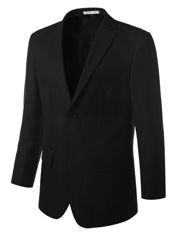 Striped Black Modern Fit 2 Piece Suit