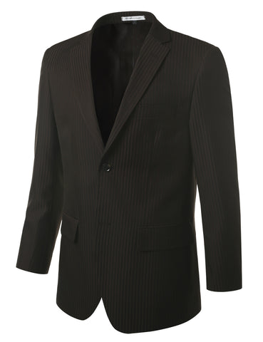 Striped Chocolate Modern Fit 2 Piece Suit