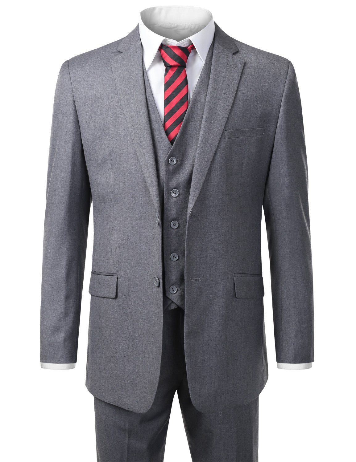 GRAY Modern Fit 3 Piece Suit- MONDAYSUIT