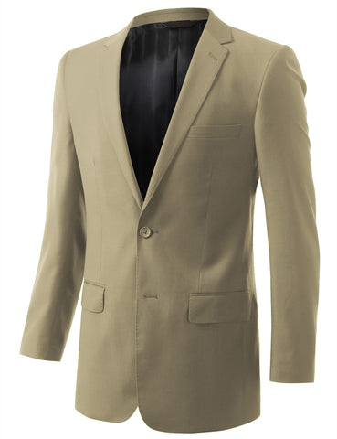 Solid Beige Modern Fit 2 Piece Suit