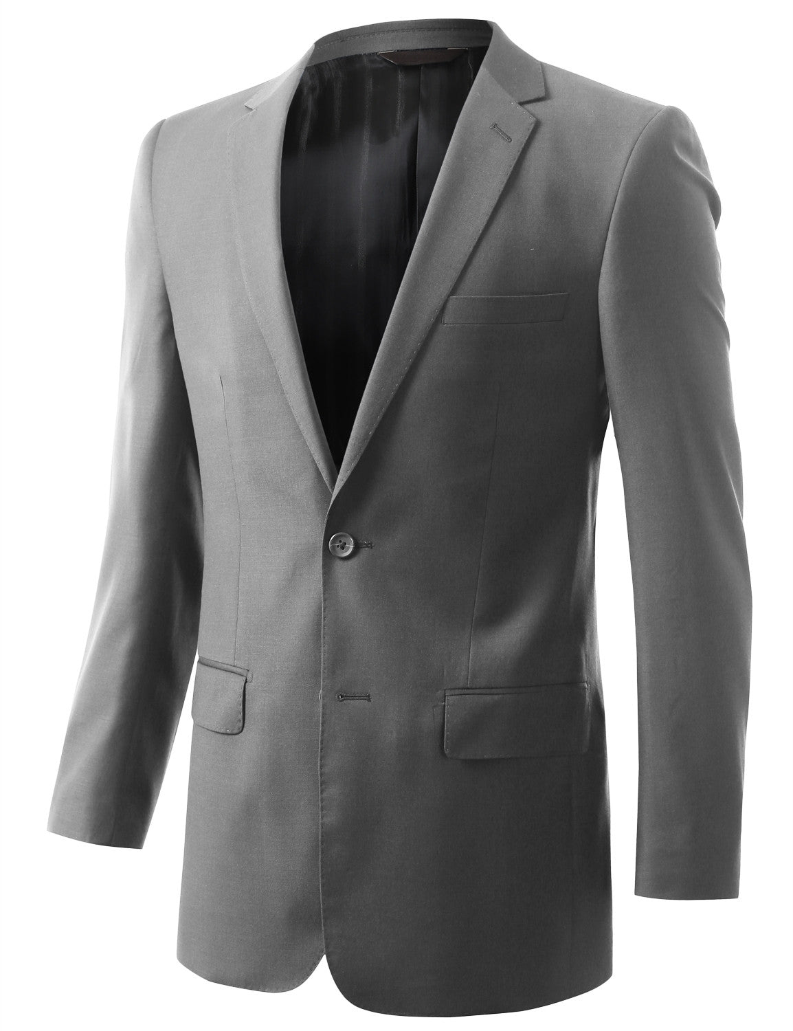 GRAY Solid Gray Modern Fit 2 Piece Suit- MONDAYSUIT