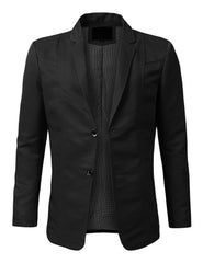 Regular Fit Casual 2 Button Patched Blazer - MONDAYSUIT