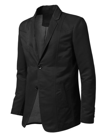 Regular Fit Casual 2 Button Patched Blazer