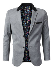 Regular Fit Casual 3 Button Zipper Pocket Blazer - MONDAYSUIT