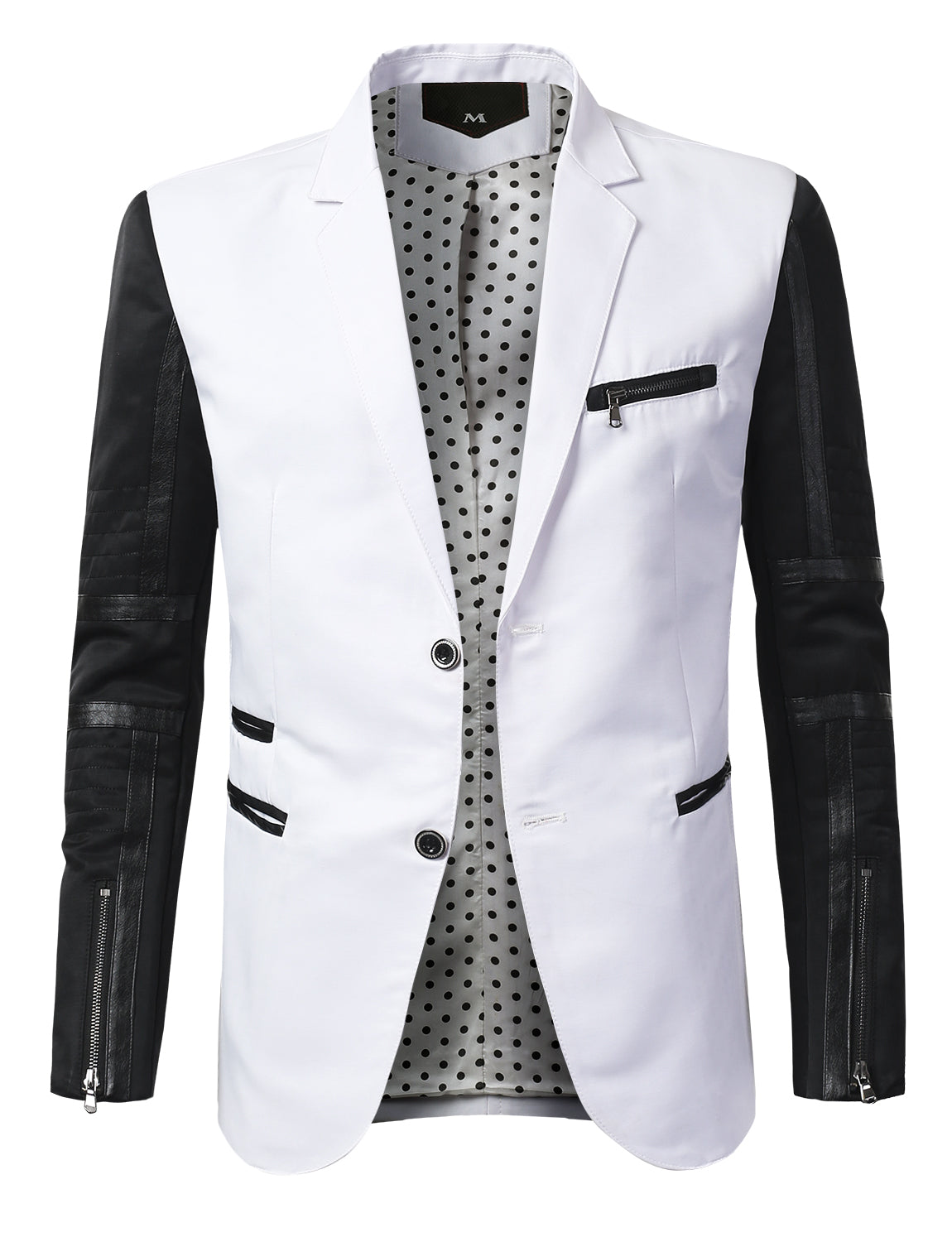 Regular Fit Two Toned Casual 2 Button Blazer - MONDAYSUIT