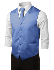 BLUE9 Formal Tuxedo 3 Piece Vest Set (Vest, Necktie, Pocket Square)- MONDAYSUIT