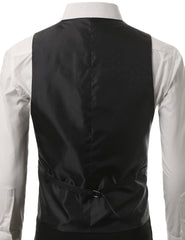 01BLK Satin Tuxedo Slim Fit Vest (Big & Tall Available)- MONDAYSUIT