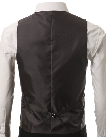 Navy Satin Tuxedo Slim Fit Waistcoat Vest (Big & Tall Available)