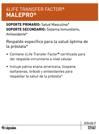 los beneficios de 4Life Transfer Factor MalePro