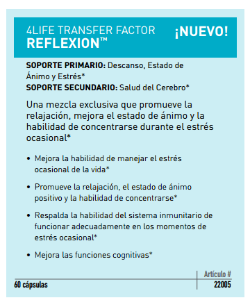 los beneficios de 4Life Transfer Factor Reflexion