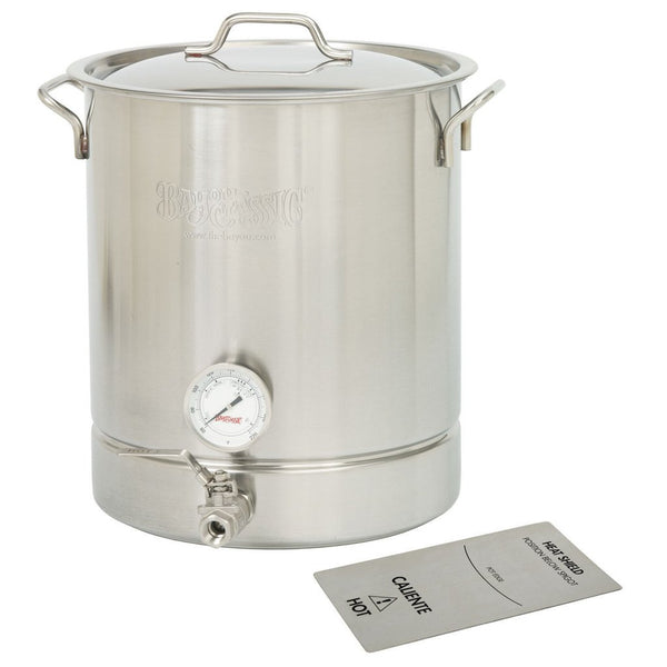 Bayou Classic 4-Piece Stainless 10 Gallon (40 qt) Brew Kettle