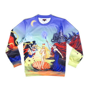 """BIRTH OF VENUS"" crew neck sweater front"