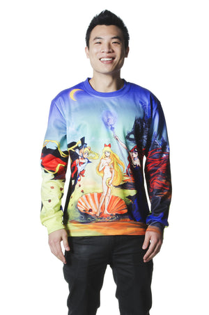 """BIRTH OF VENUS"" crew neck male 1"