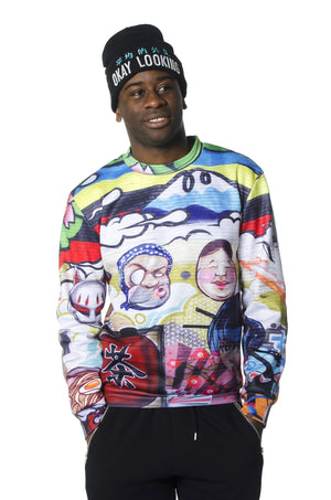 """SANKO"" crew neck sweater male 1"