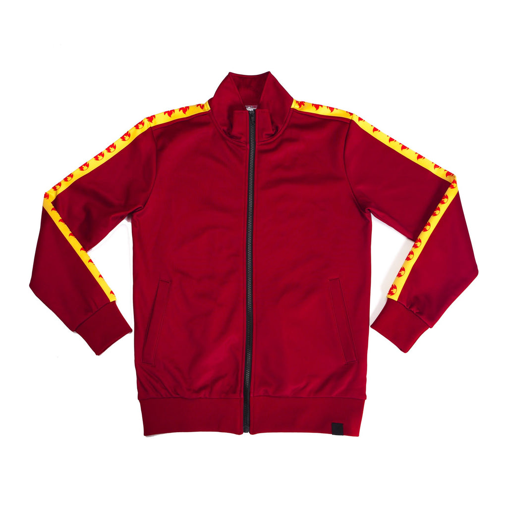 """FIRE RED"" GO track jacket"