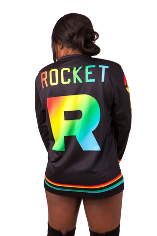 """ROCKET PRIDE"" jersey model 4 back"