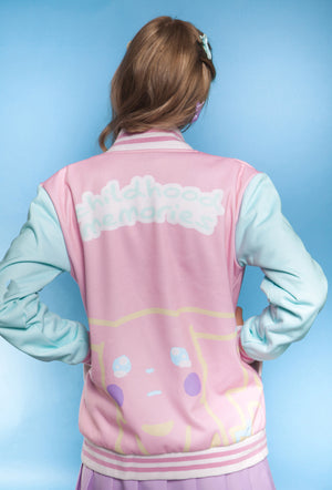 """CRYBABY"" cozy jacket female back"