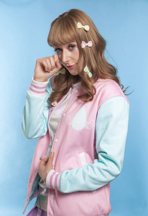 """CRYBABY"" cozy jacket female front"