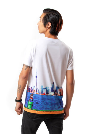 """WORLD SIX"" tee male"