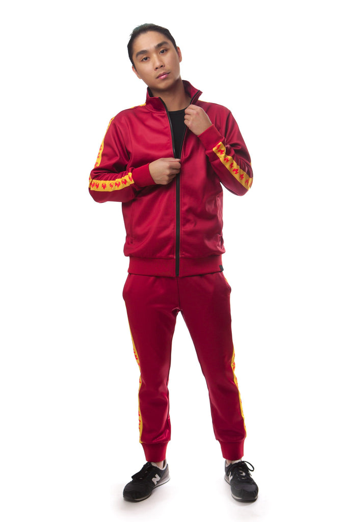 """FIRE RED"" GO track jacket male"