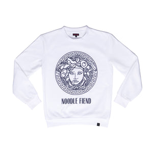 """NOODLE FIEND"" crew neck sweater"