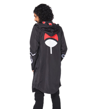"""AKATSUKI"" rain coat male back"