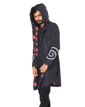 """AKATSUKI"" rain coat male front"