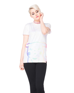 """CRYBABY"" tee female 1 front"