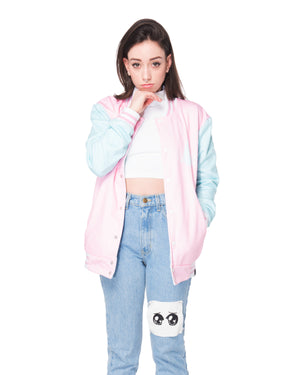 """CRYBABY"" cozy jacket female 1 front"